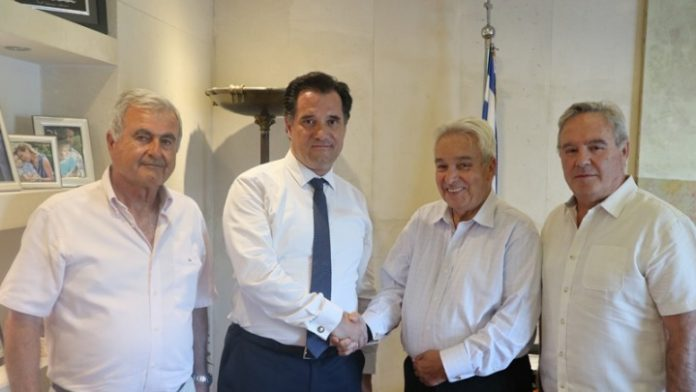 Συνάντηση Άδωνι Γεωργιάδη με τον επιχειρηματία Μερκούριο Αγγελιάδη και την ομάδα του