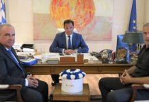 Συνάντηση Α. Γεωργιάδη - Γ. Μώραλη στο υπουργείο