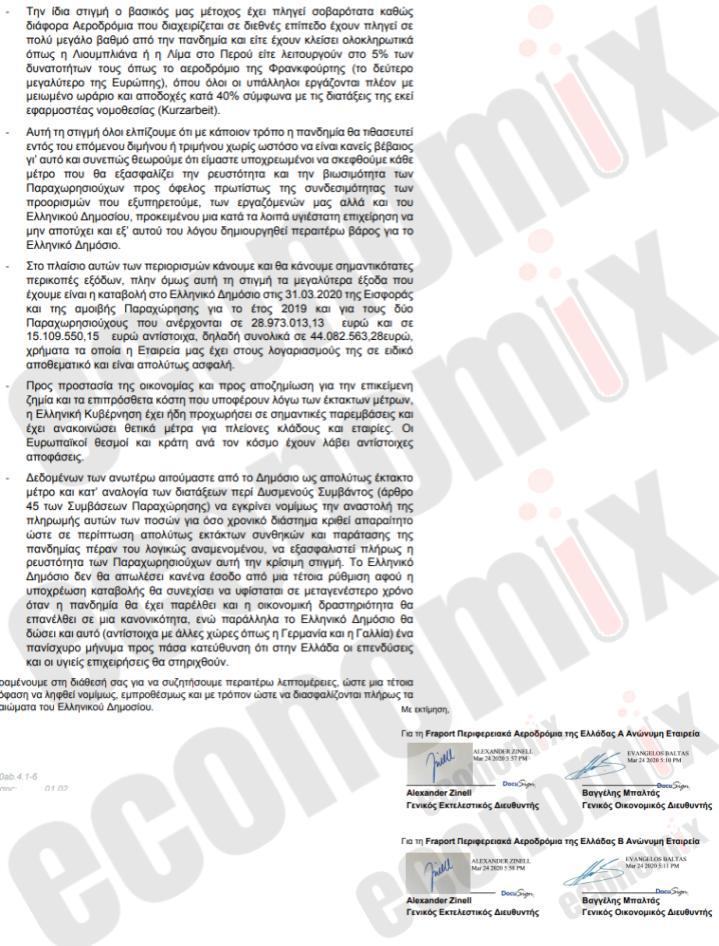 μέτρα ζητά η Fraport Greece από την κυβέρνηση για τον κορωνοϊό
