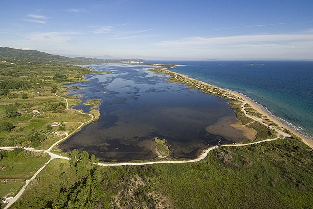 NATURA2000 biotope Korission lagoon located in Corfu Greece